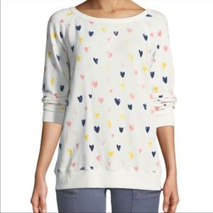 NWT Joie Edrie Heart Printed Sweatshirt